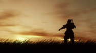 Stock Video Footage of Samurai at Sunset  (HD720)