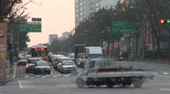 Stock Video Footage of City traffic timelapse, Korea