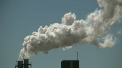 Stock Video Footage of Factory Smoke stack