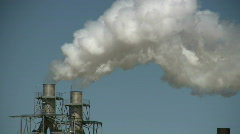 Factory Smoke stack - stock footage