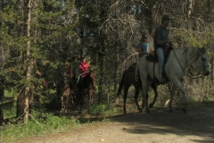 Trail Riders On Horseback 2  Stock Footage