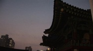 Stock Video Footage of Drum beats, Buddhist Temple