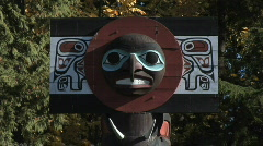 Totem Pole Stanley Park Vancouver Stock Footage