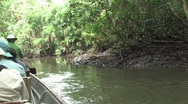 Paddling a stream in the Amazon Stock Footage
