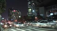 Korea traffic, timelapse Stock Footage