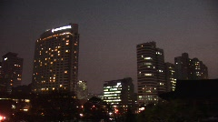 Seoul skyline at night Stock Footage