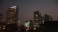 Stock Video Footage of Seoul skyline at night