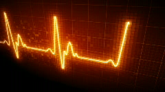 Seamlessly looping EKG heart monitor. HD progressive. Stock Footage