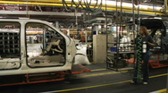 Stock Video Footage of Car Plant 30
