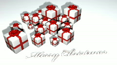 Growing Xmas Boxes - Merry Christmas 05 (HD) Stock Footage