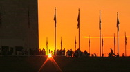 Stock Video Footage of Sunset at Washington Monument