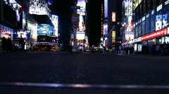 TimeSquare trafficLow 01 Stock Footage