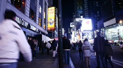 TimeSquare People 03 Stock Footage