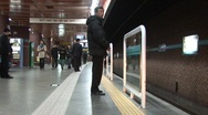 Stock Video Footage of Subway train, South Korea