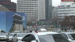 Stock Video Footage of Street traffic, Seoul