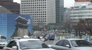 Stock Video Footage of Street traffic, Seoul