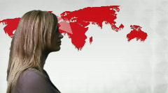 Woman Looking an Economic Gloom - stock footage