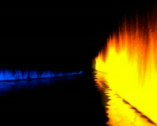 Fire & water Stock Footage