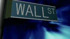 WALL STREET SIGN 2 Stock Footage