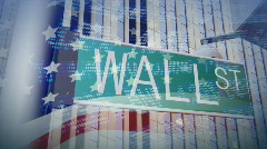 WALL STREET SIGN Stock Footage