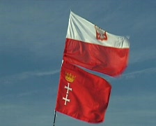 XX World Youth Day 2005 in Cologne. Vigil on the Marienfeld. Flags Stock Footage