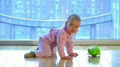 The baby model 14 Stock Footage