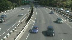 Multilane motorway time lapse Stock Footage
