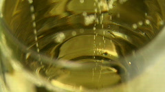 Glass with champagne Stock Footage