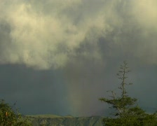 Sundog over the Andes in Ecuador - stock footage