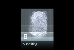 Fingerprint Scan loop Stock Footage