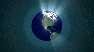 Stock Video Footage of 3D Rotating Earth Animation