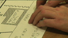 Reading braille Stock Footage