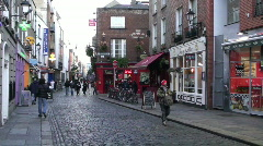 Temple Bar Street  Stock Footage