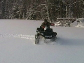 Stock Video Footage of winter quad bike