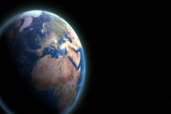 Rotating Earth 104 - Loopable (SD) Stock Footage
