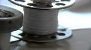 Extreme Macro - Sewing machine - spinning a bobbin 1 Stock Footage