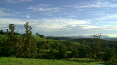 Country Morning Timelapse - Rolling Green Hills Stock Footage