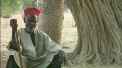 African Sage Old Man - stock footage