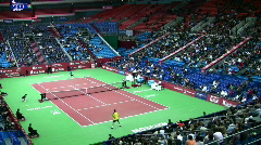Tennis Kremlin Cup October 10 2008 in Moscow Russia. Stock Footage