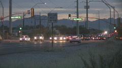 Dusk in the desert high traffic. Stock Footage