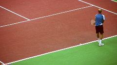 Davydenko Nikolay on Tennis Kremlin Cup October 10 2008 in Moscow Russia. Stock Footage