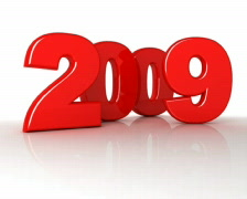 New Year 2009 (red) Stock Footage