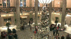 Christmas tree hotel TL P HD Stock Footage