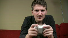 Man Playing Video Games Stock Footage