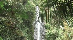 Waterfall in Ecuador - stock footage