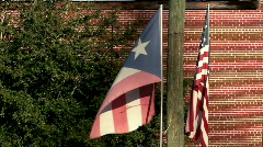 Puerto Rican Flag Stock Footage