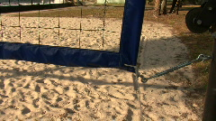 Beach Volley Ball Court Stock Footage