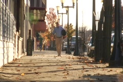 Small Town Sidewalk 01 Stock Footage