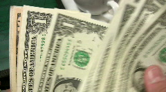 Cash counting - american dollars Stock Footage
