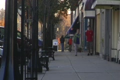 Small Town Sidewalk 03 Stock Footage